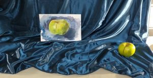 Learning how to paint fruit in watercolour at  Watercolour classes for beginners in Kidderminster Worcestershire