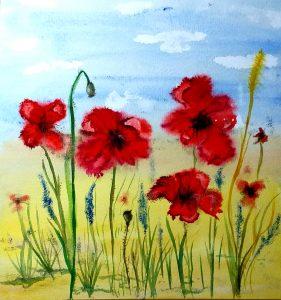 Watercolour classes for complete beginners in Art in Kidderminster.
