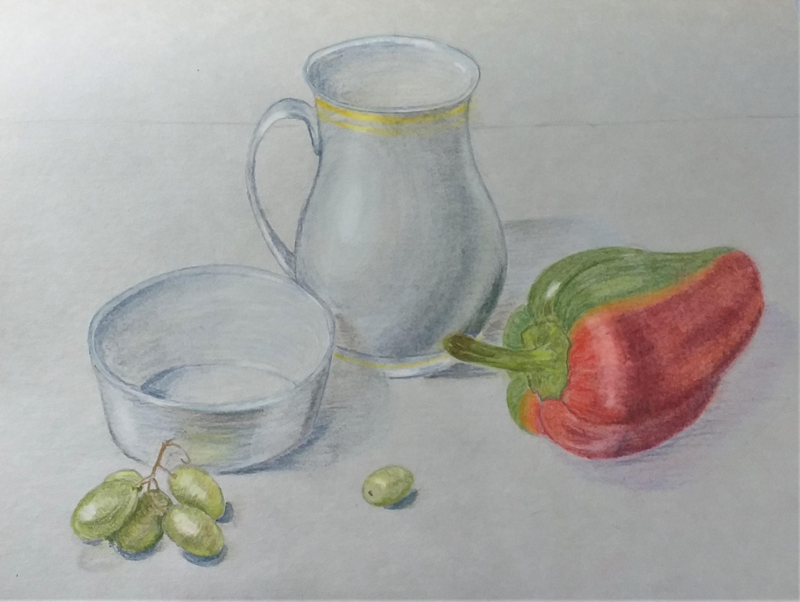 Kate's pastel work created at art classes in Kidderminster Worcestershire