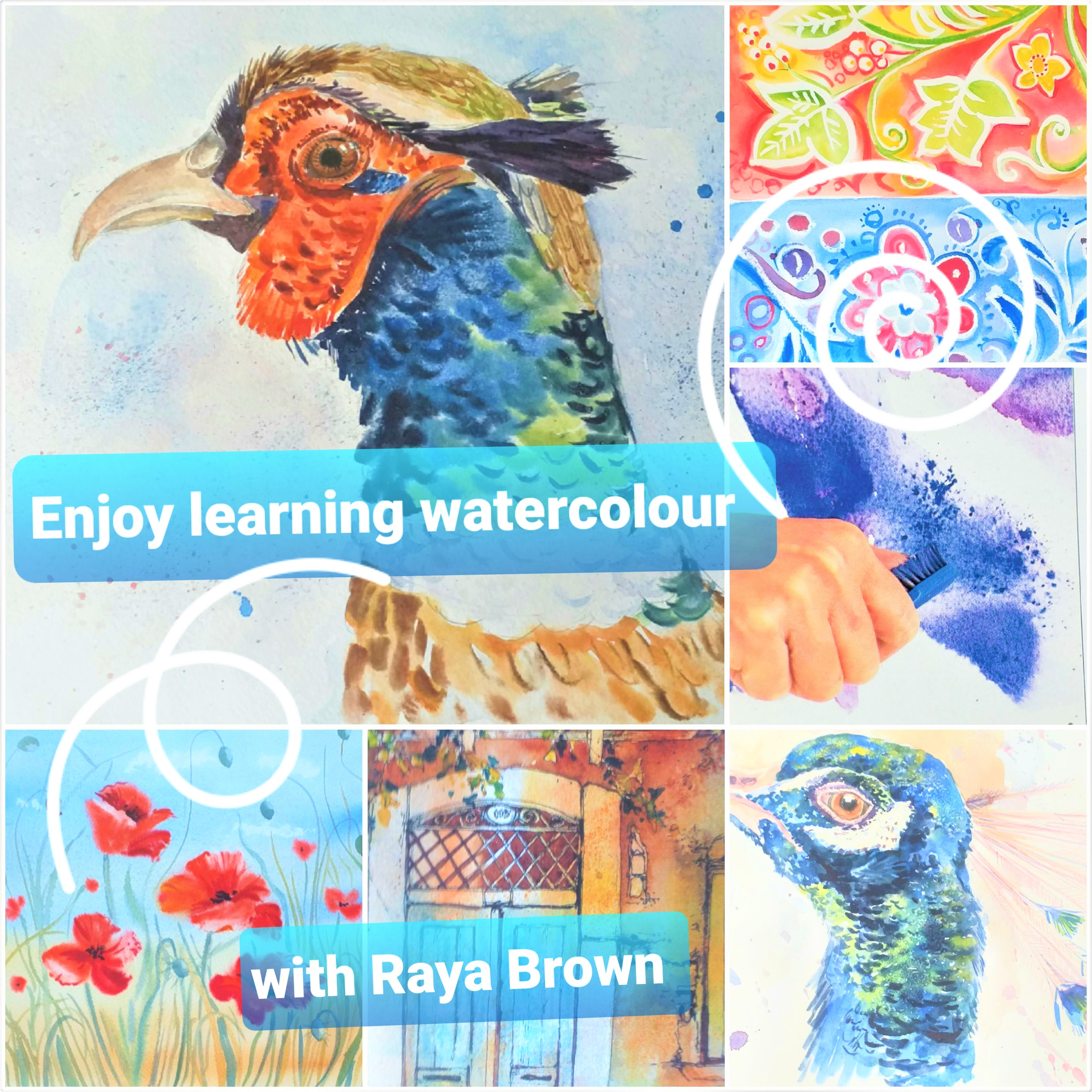 'Fun with watercolour' interactive online course with artist Raya Brown