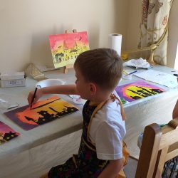 Children painting and drawing at Magic Wool Art and Craft Studio in Kidderminster Worcestershire