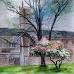 Spring in Worcestershire watercolour by artist Raya Brown